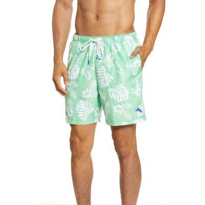 Tommy Bahama Naples Parrot In Paradise Swim Trunks, Green