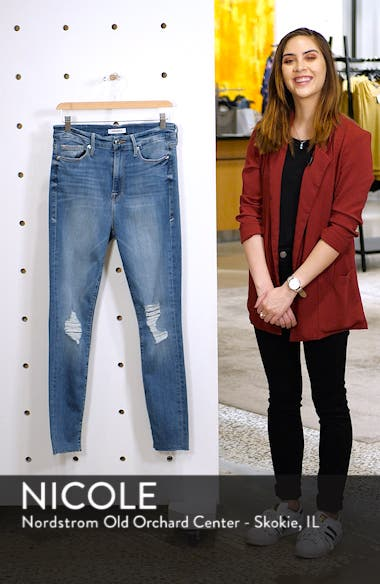 Good Waist Raw Edge Skinny Jeans, sales video thumbnail