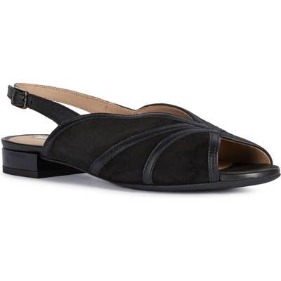 Geox Wistrey Slingback Sandal, Black