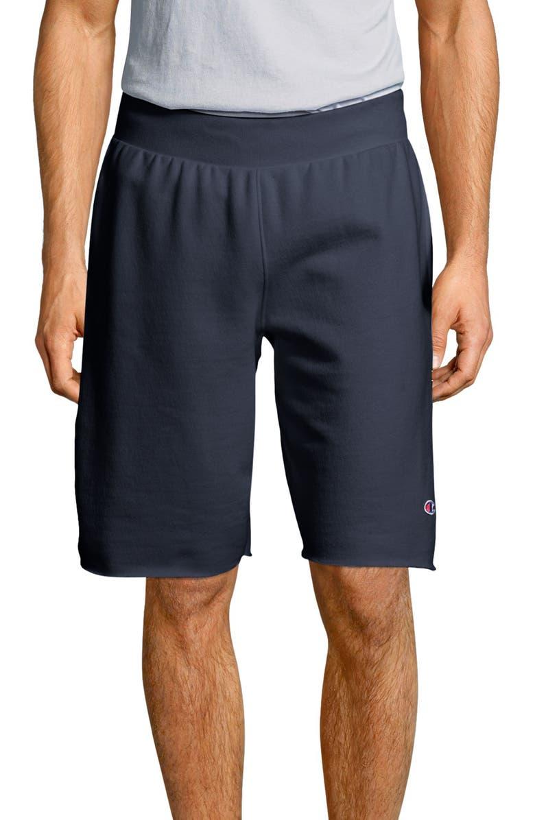CHAMPION Reverse Weave Shorts, Main, color, NAVY