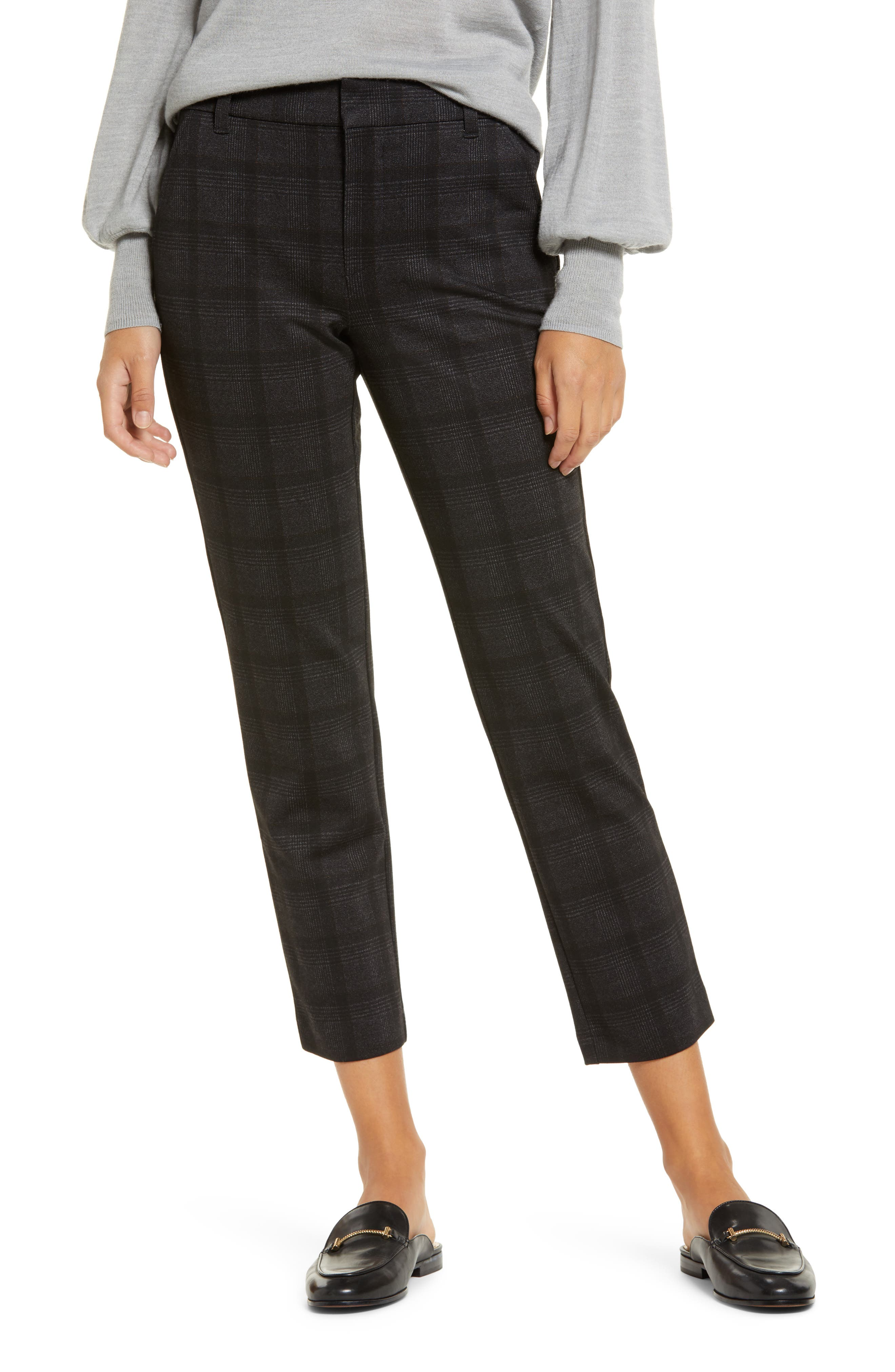 Wit & Wisdom Ab-Solution Plaid Ankle Trousers (Regular & Petite) (Nordstrom Exclusive)   Nordstrom