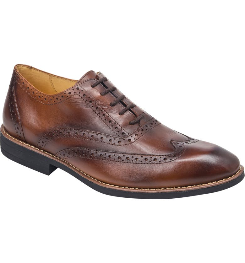 SANDRO MOSCOLONI Mercer Wingtip, Main, color, BROWN LEATHER