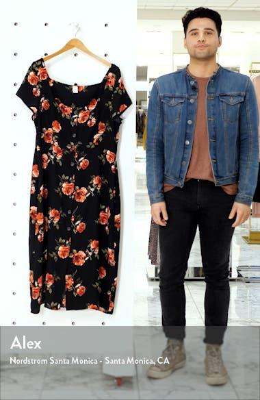 x Claudia Sulewski Floral Print Button Front Midi Dress, sales video thumbnail