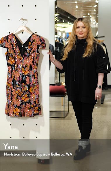 Corinne Sequin Embellished Embroidered Dress, sales video thumbnail