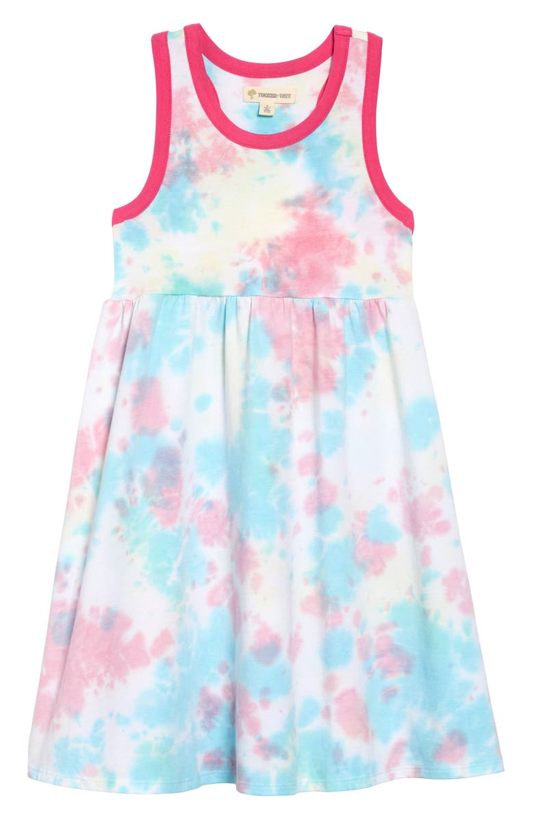 TUCKER + TATE Racerback Tank Dress, Main, color, PINK AMOUR TIE DYE