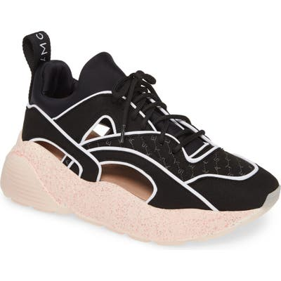 Stella Mccartney Eclypse Cutout Sneaker, Black