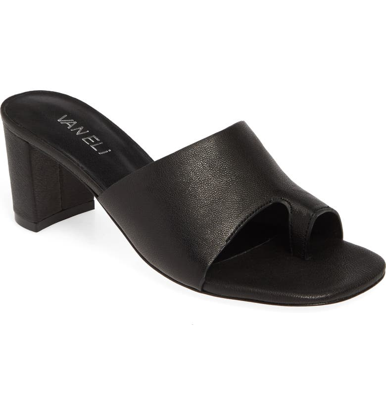 VANELI Maysa Slide Sandal, Main, color, BLACK LEATHER