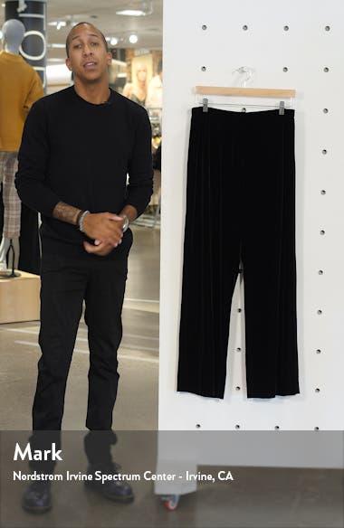 Flat Front Velvet Trousers, sales video thumbnail