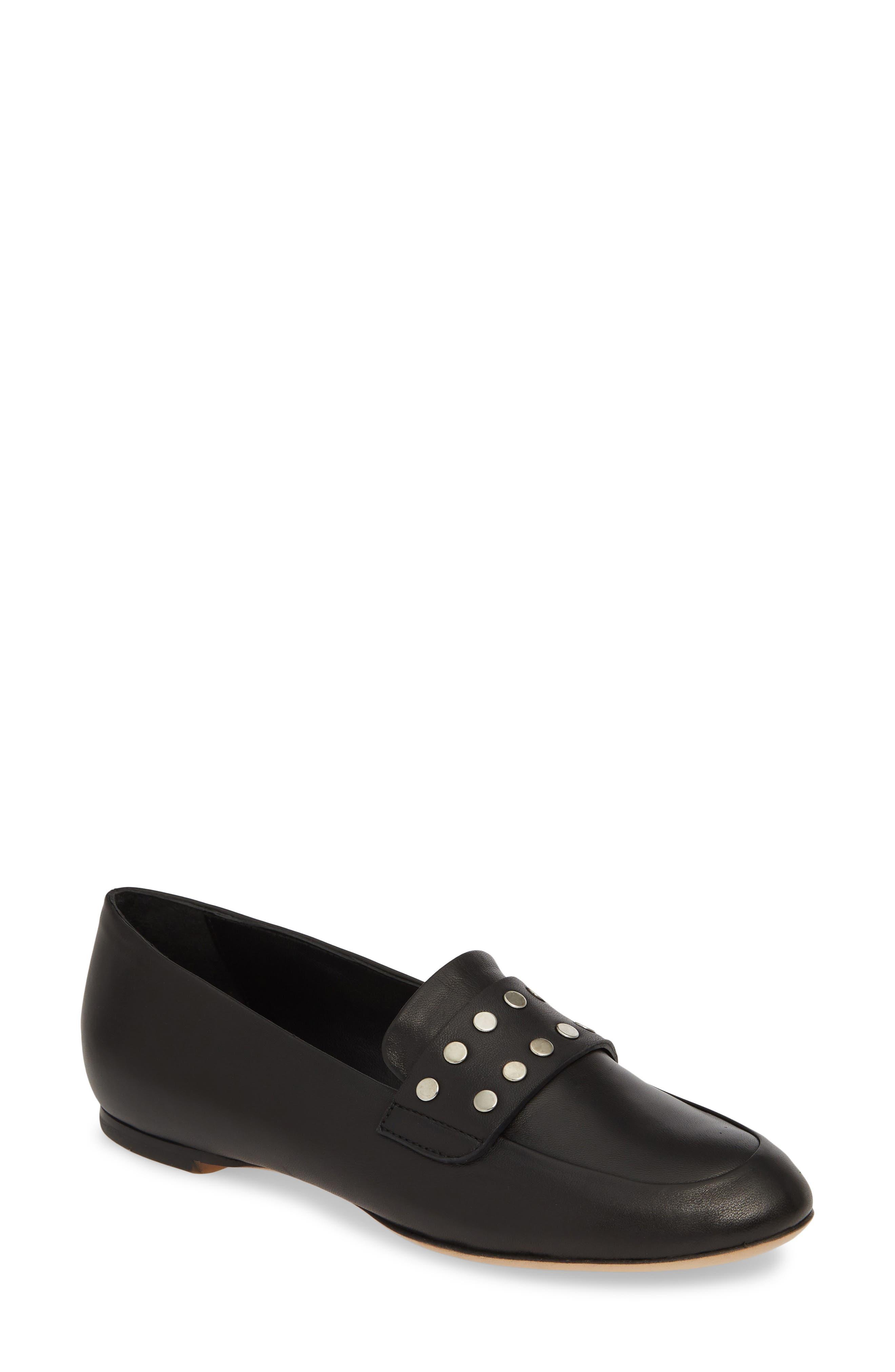 Agl Stud Strap Loafer, Black