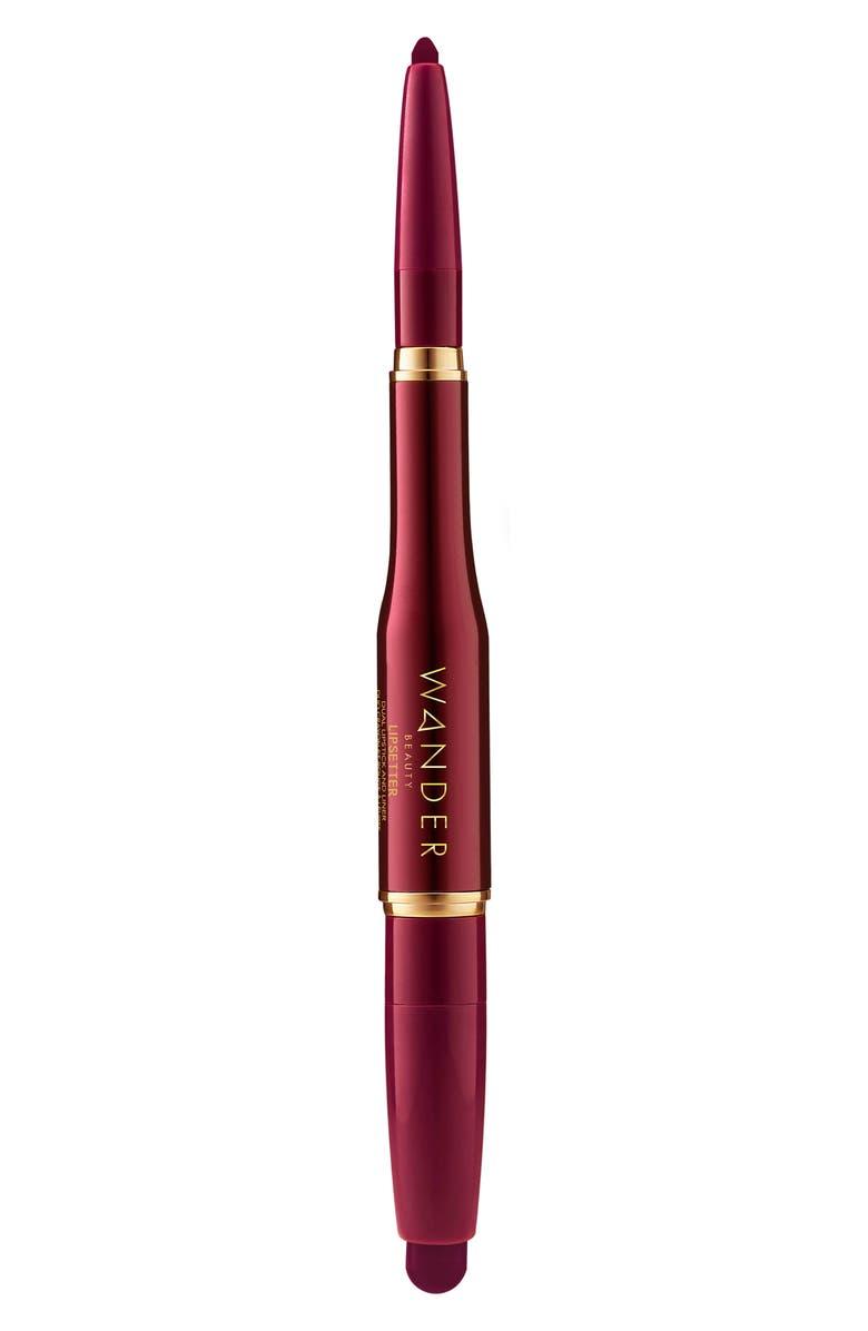 WANDER BEAUTY Lipsetter Dual Lipstick & Liner, Main, color, MIDNIGHT MALBEC