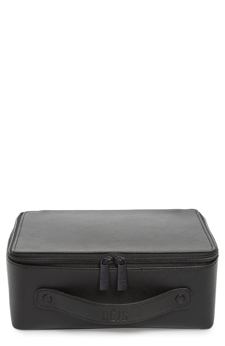BÉIS The Cosmetics Case, Main, color, BLACK