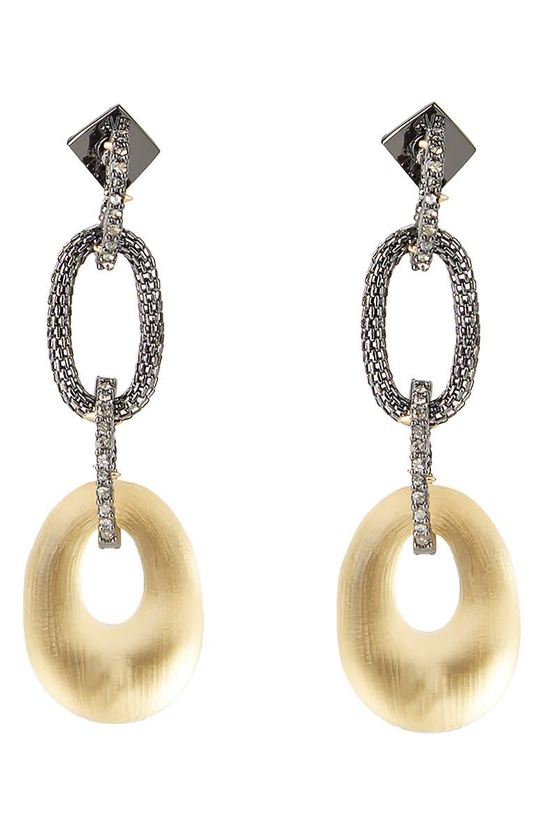ALEXIS BITTAR Tube Mesh Multi Link Earrings, Main, color, GOLD