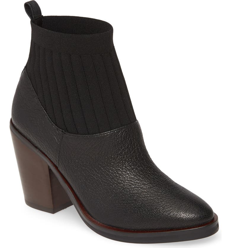 KELSI DAGGER BROOKLYN Woodland Bootie, Main, color, BLACK LEATHER