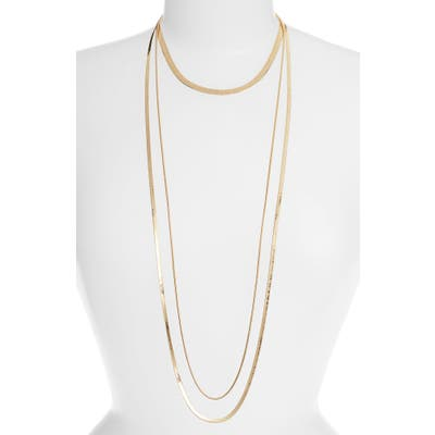 Halogen 3-In-1 Layered Snake Chain Necklace