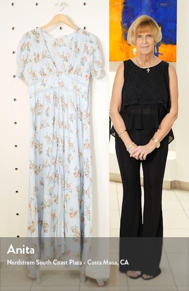 Stacy Floral Lace Inset Cotton Maxi Dress, sales video thumbnail
