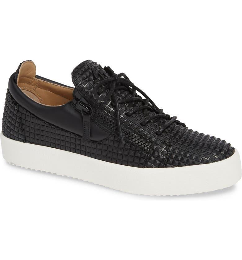 GIUSEPPE ZANOTTI Low Top Sneaker, Main, color, 010