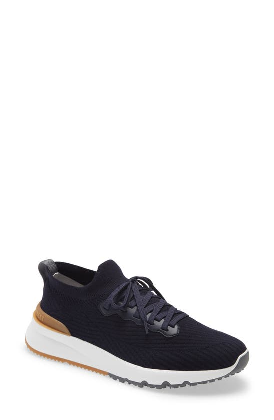 BRUNELLO CUCINELLI Leathers KNIT SNEAKER