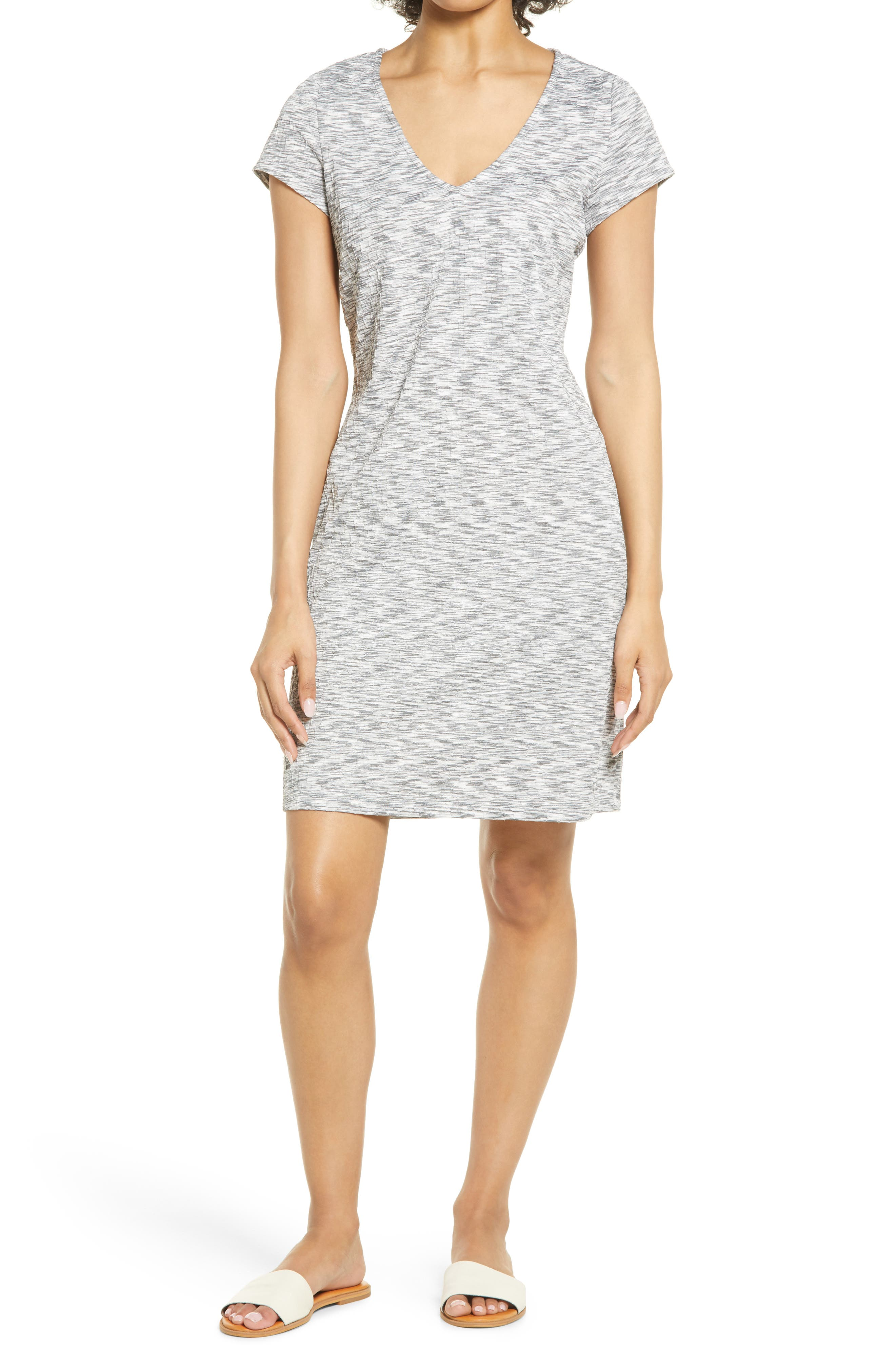 V-Neck Texture Dress