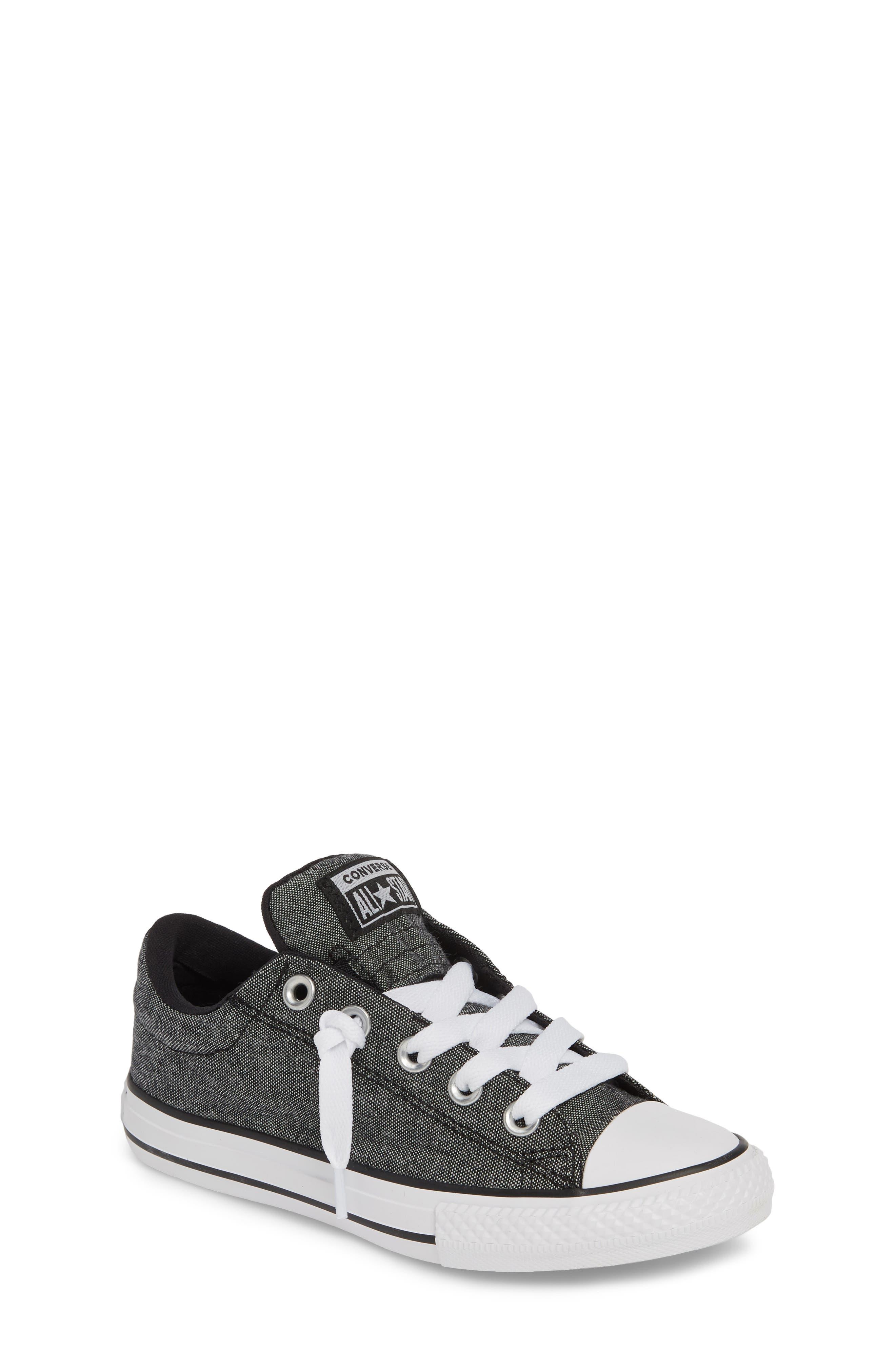 ,                             Chuck Taylor<sup>®</sup> All Star<sup>®</sup> Street Sneaker,                             Main thumbnail 1, color,                             BLACK/ BLACK/ WHITE