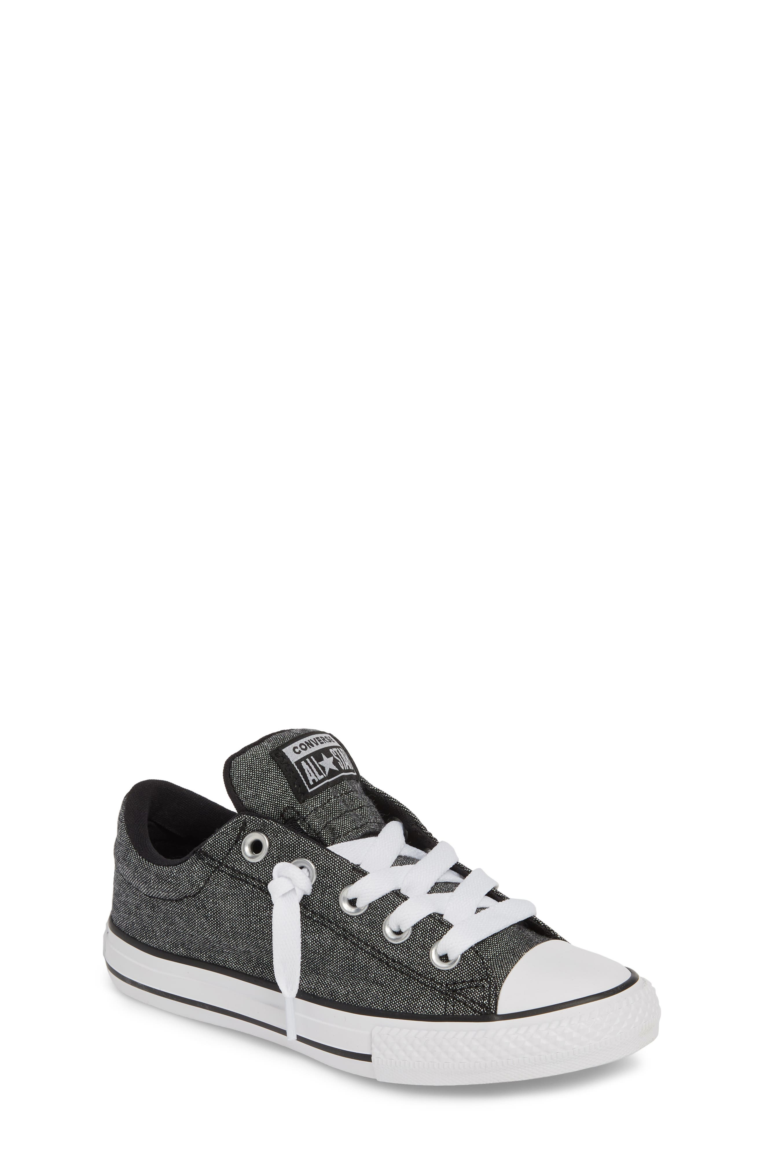 Chuck Taylor<sup>®</sup> All Star<sup>®</sup> Street Sneaker, Main, color, BLACK/ BLACK/ WHITE