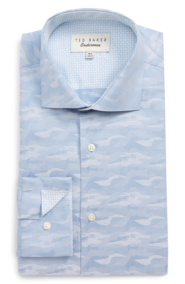 TED BAKER LONDON Endurance Extra Slim Fit Camo Dress Shirt, Main, color, 421