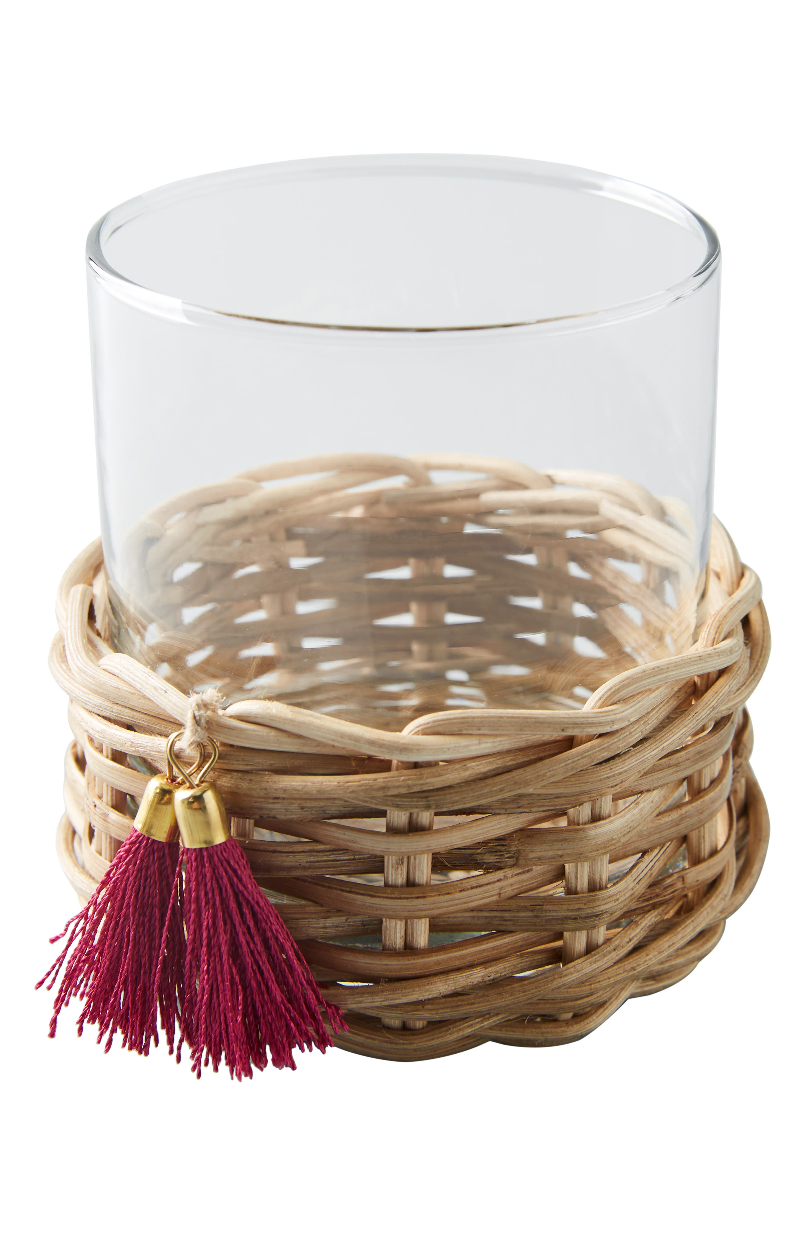 ,                             Elena Rattan Wrapped Glass,                             Alternate thumbnail 4, color,                             COMBO A- COOL