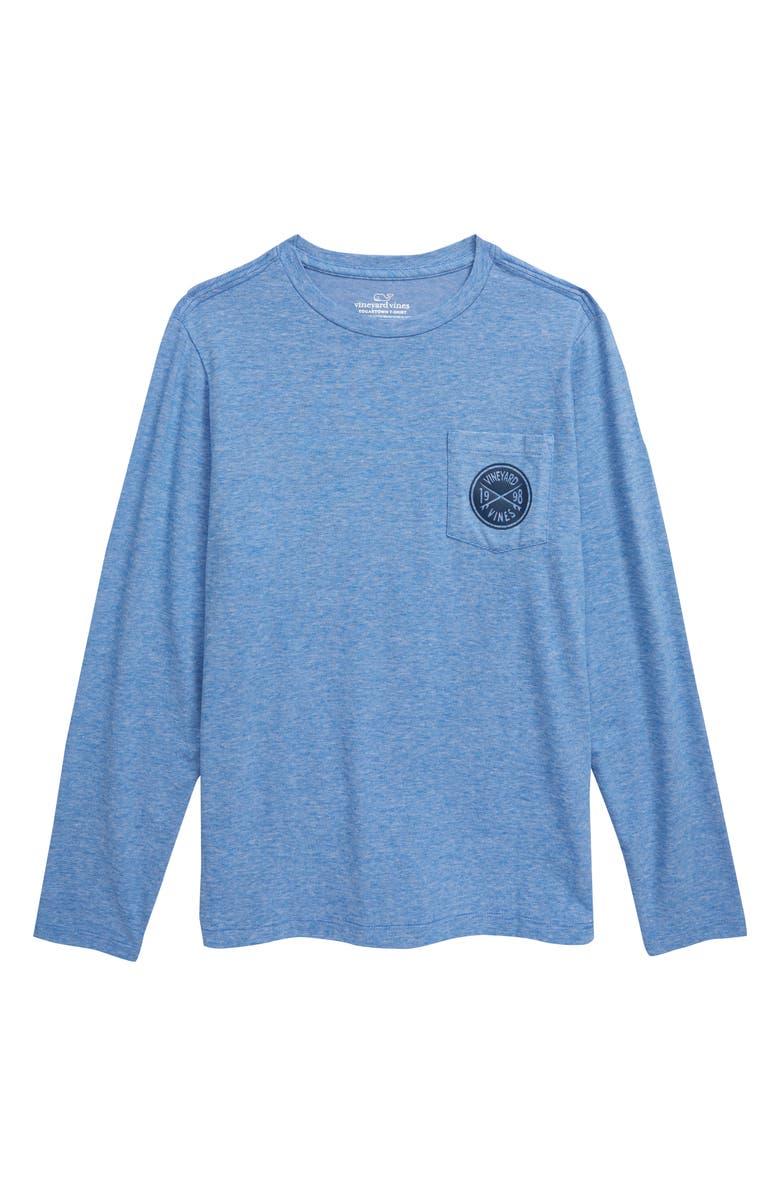 VINEYARD VINES Edgartown Surf Crest Long Sleeve T-Shirt, Main, color, SPINNAKER