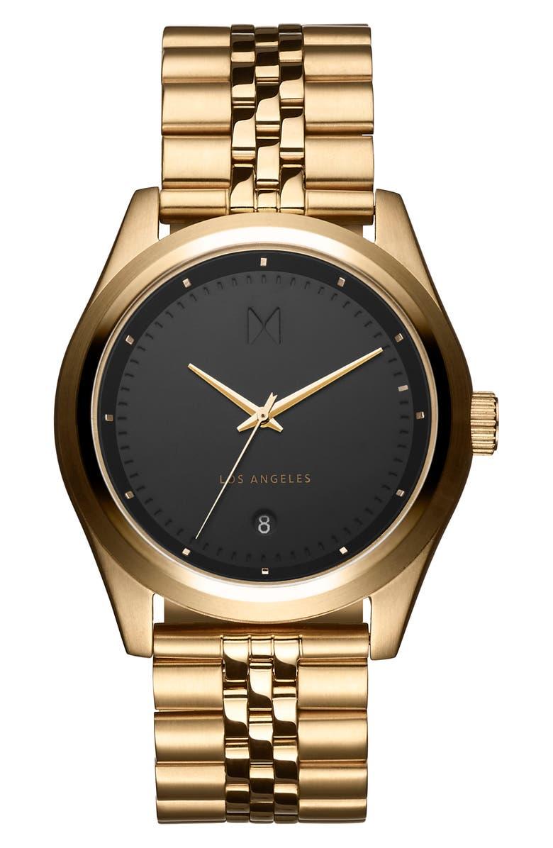 MVMT Rise Bracelet Watch, 39mm, Main, color, GOLD/ BLACK/ GOLD