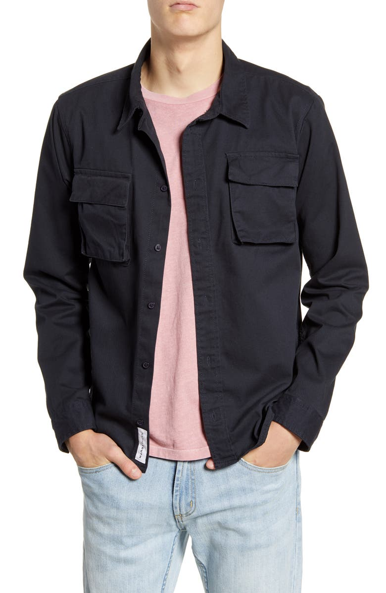 NATIVE YOUTH Burjack Button-Up Shirt, Main, color, BLUE