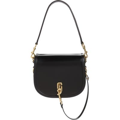 Marc Jacbos Leather Saddle Bag - Black