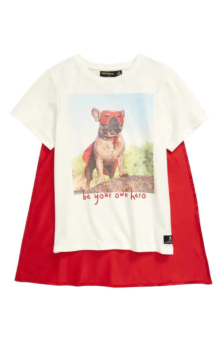 ROCK YOUR KID Be Your Own Hero Cape Graphic Tee, Main, color, 900