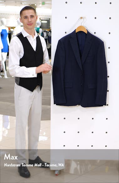 Regular Fit Solid Wool Blazer, sales video thumbnail