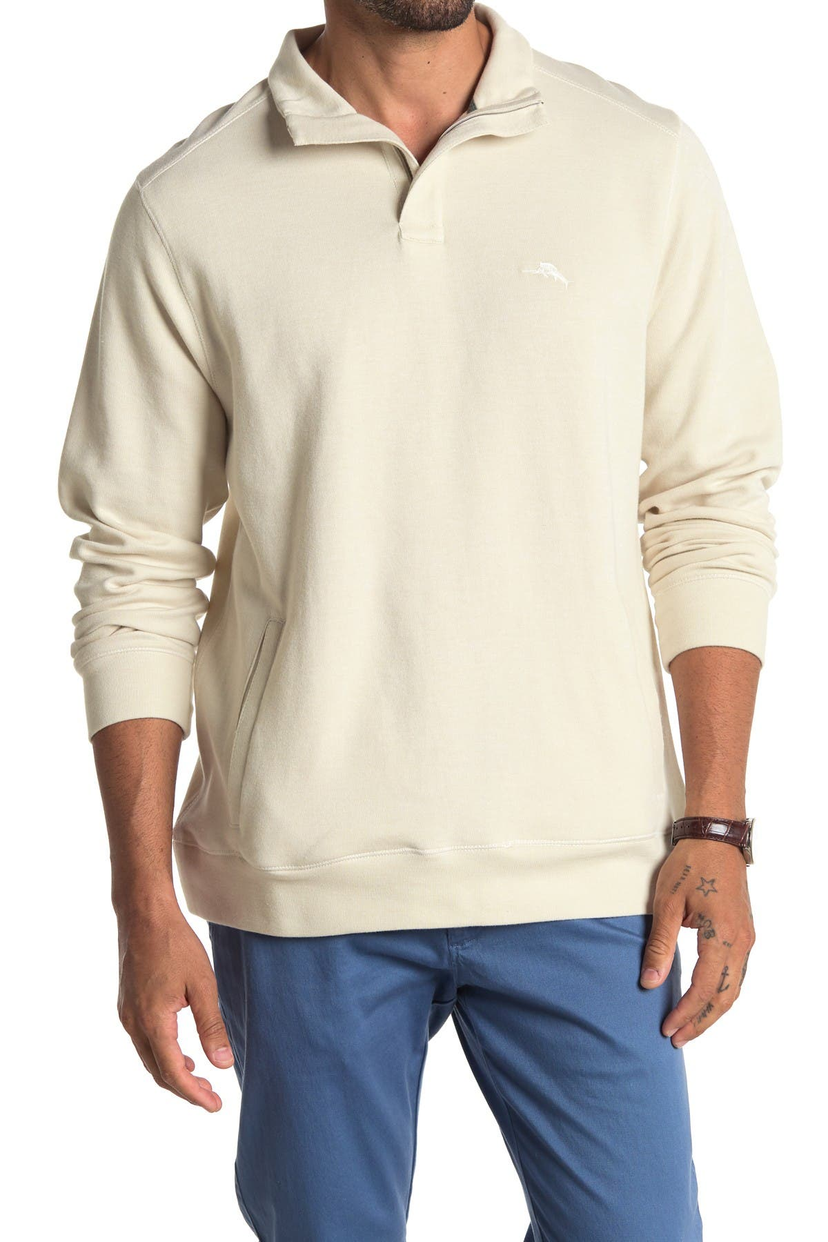 Image of Tommy Bahama Playa Pina Port Half Zip Pullover