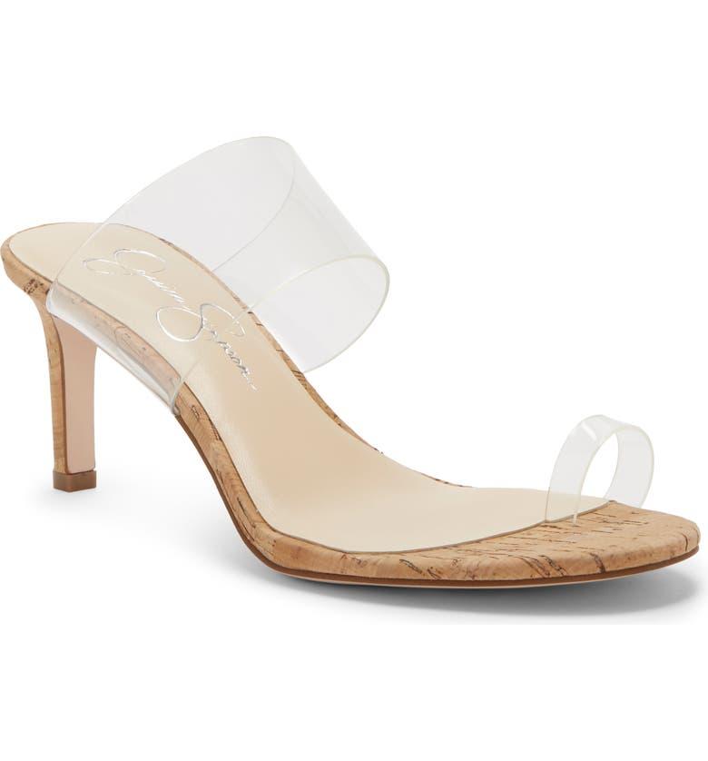 JESSICA SIMPSON Lissah Slide Sandal, Main, color, CLEAR