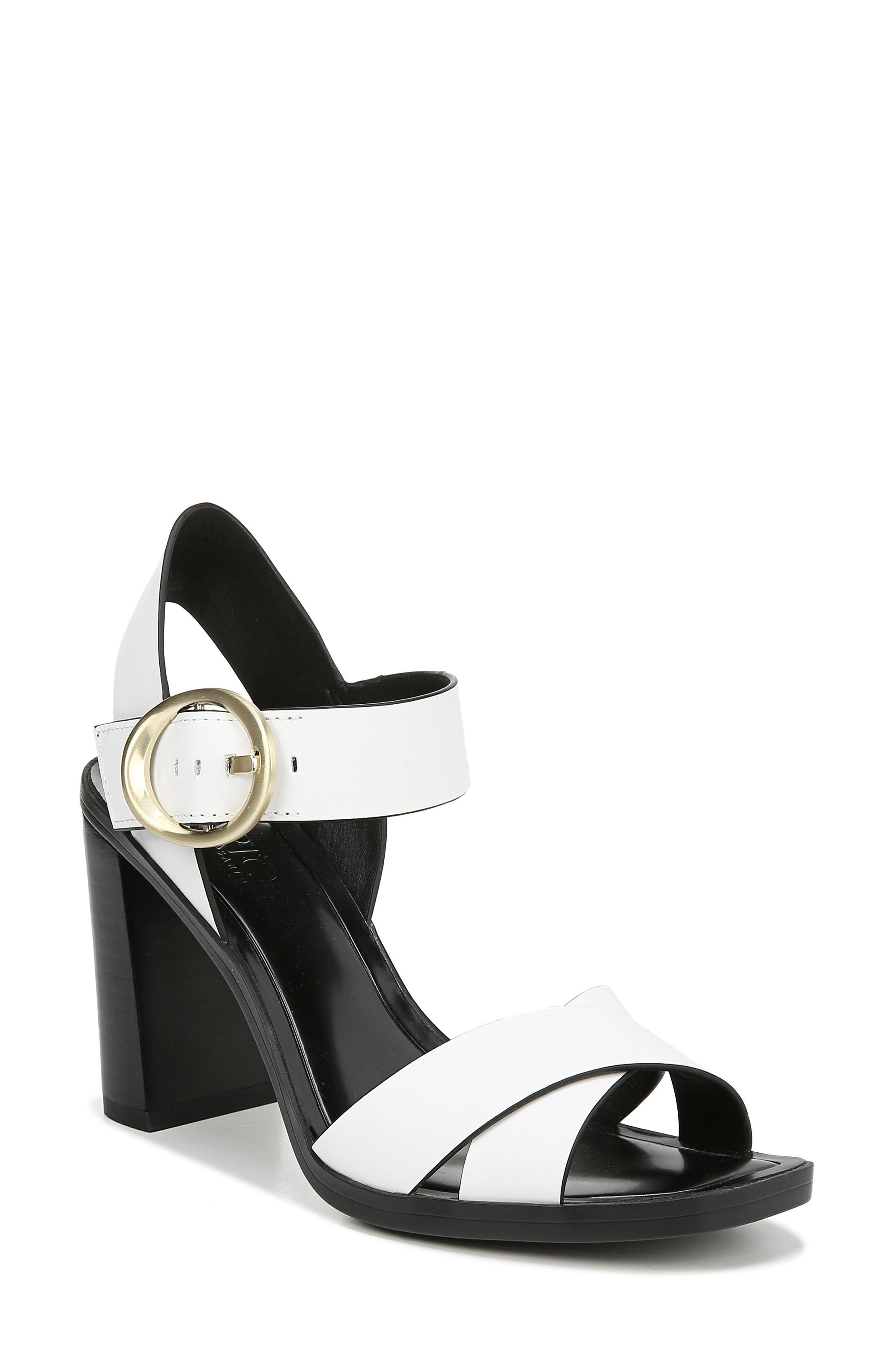 Sarto By Franco Sarto Willis Buckle Sandal- White