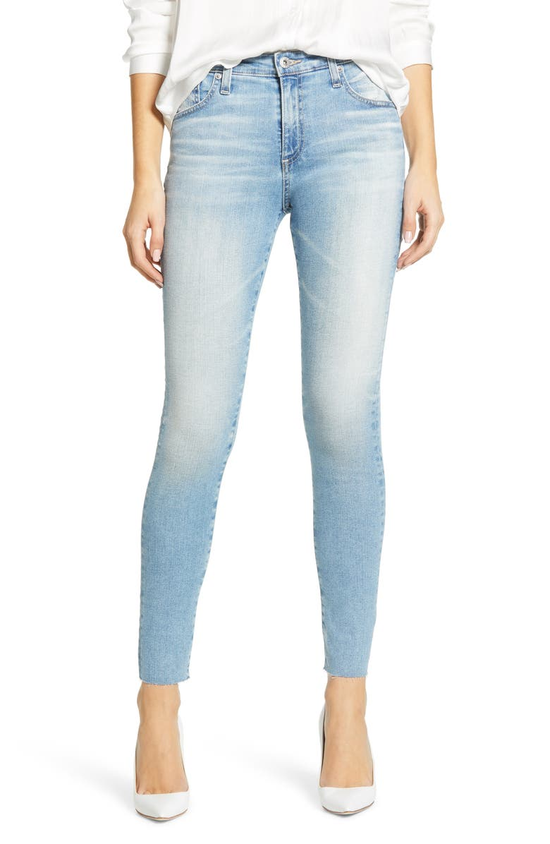 AG The Farrah High Waist Ankle Skinny Jeans, Main, color, 22 YEARS REDEMPTIVE