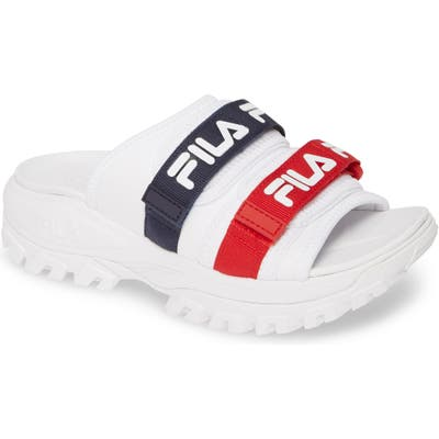 Fila Outdoor Platform Sport Slide, White