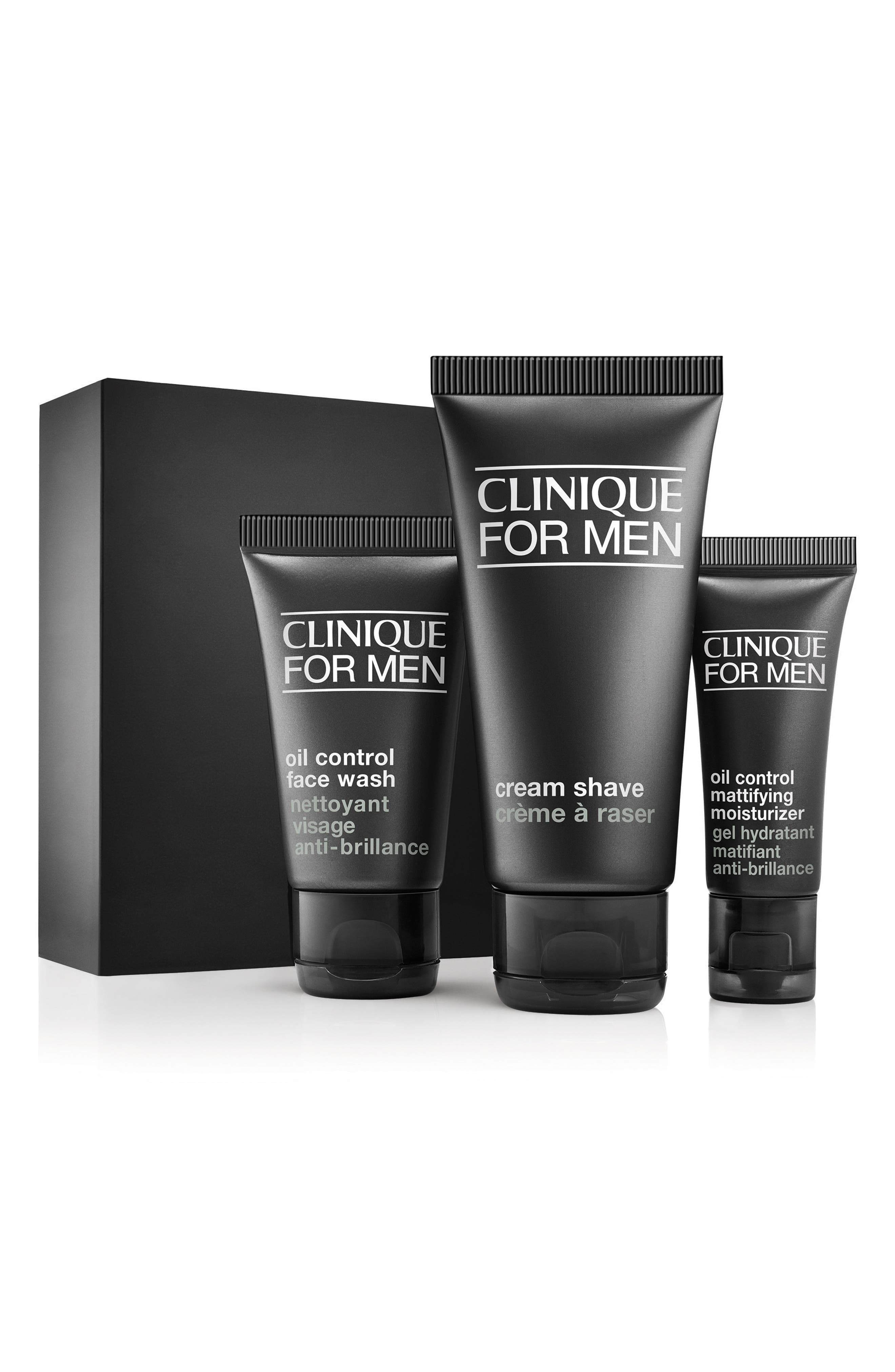 ,                             for Men Starter Kit for Combination Oily to Oily Skin Types,                             Main thumbnail 1, color,                             NO COLOR