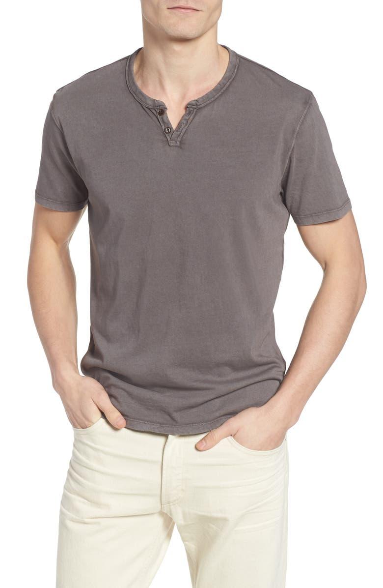 LUCKY BRAND Notch Henley T-Shirt, Main, color, 001