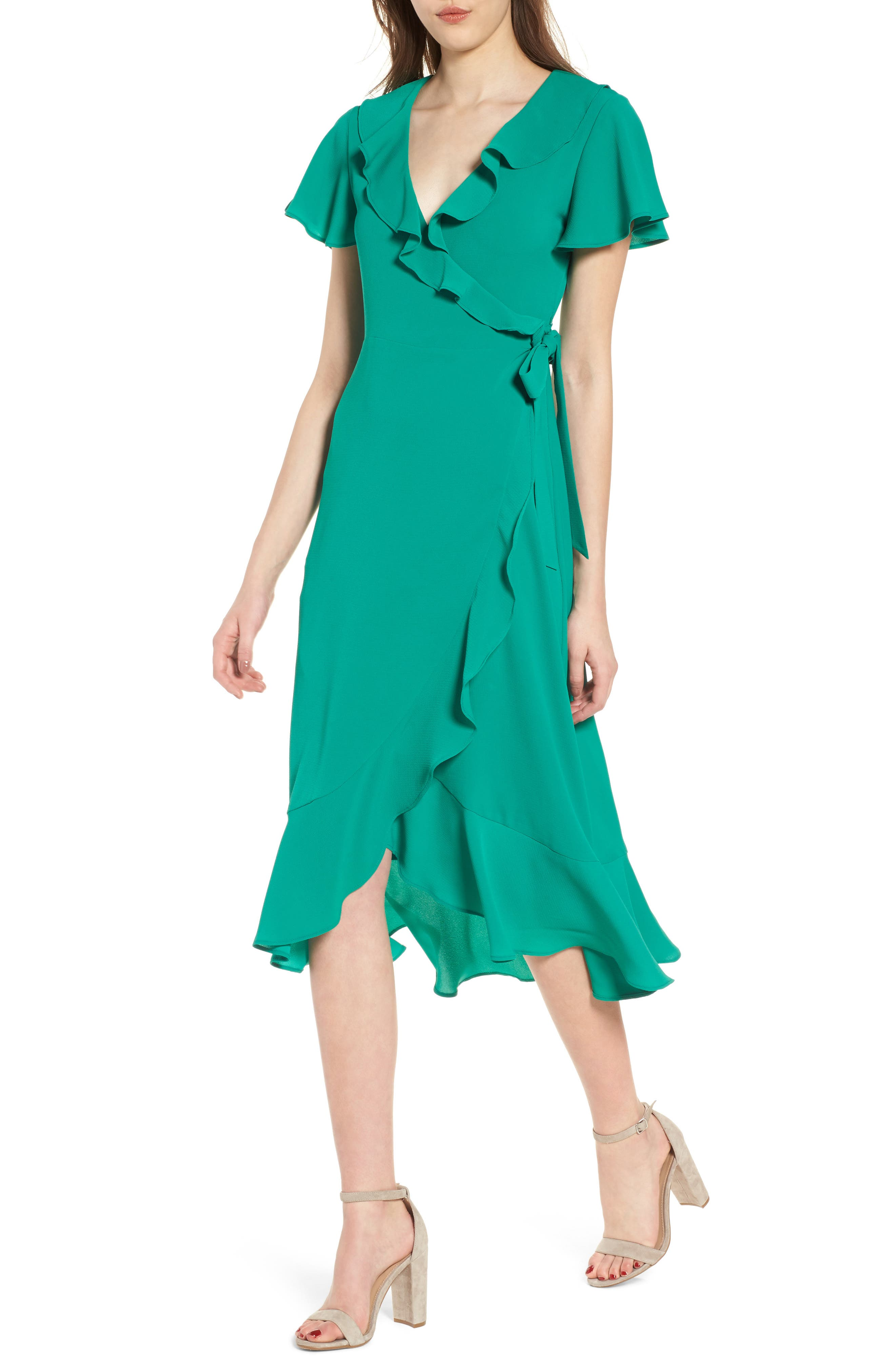 Chelsea28 Ruffle Wrap Dress