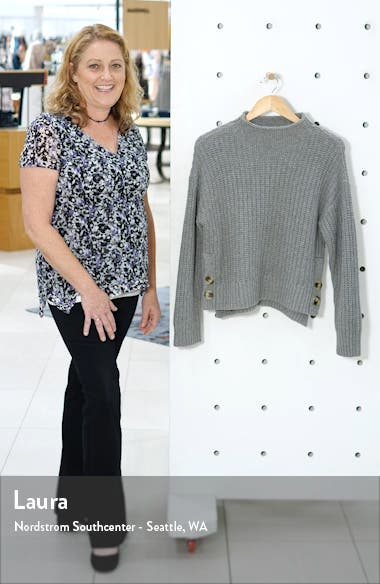 Mock Neck Side-Button Pullover Sweater, sales video thumbnail