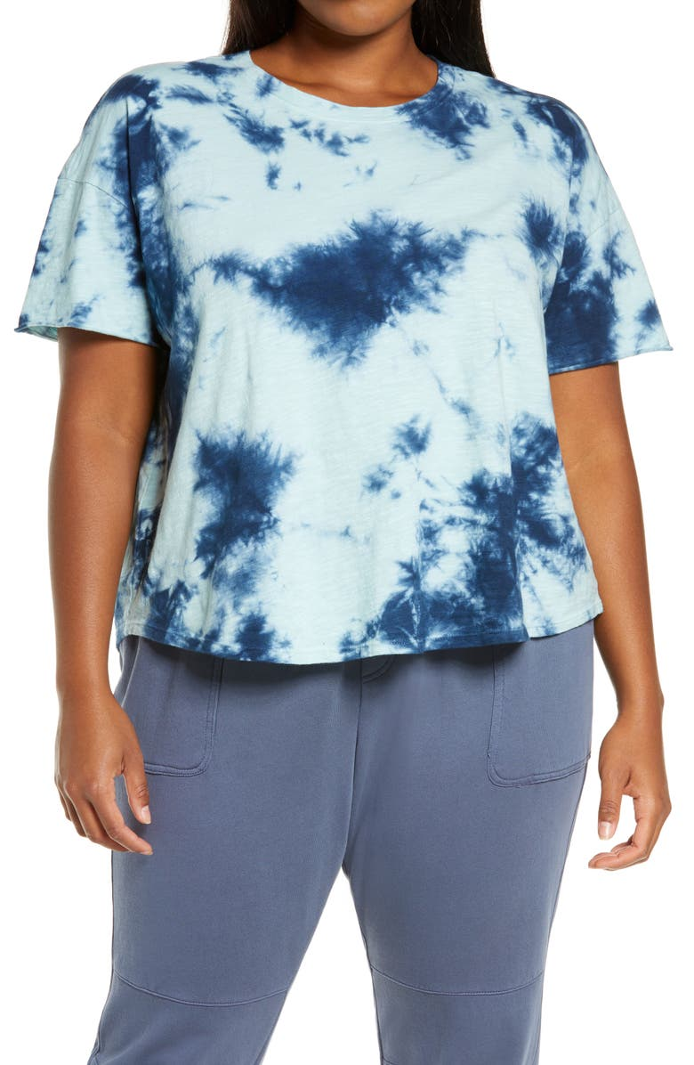 ZELLA Garment Dye Studio T-Shirt, Main, color, BLUE CLEARWATER