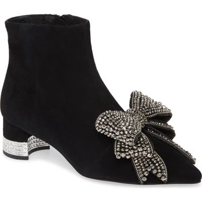 Jeffrey Campbell Luci Embellished Bow Bootie, Black