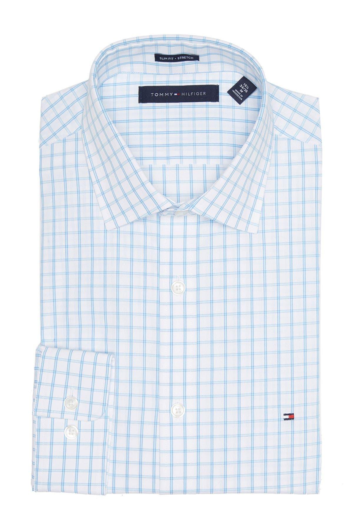 Tommy Hilfiger Windowpane Print Stretch Slim Fit Shirt