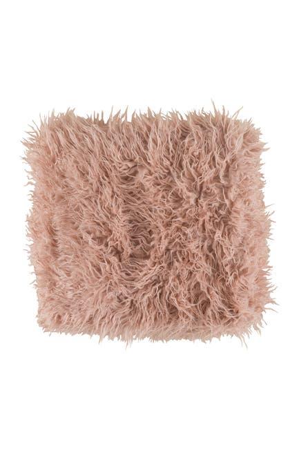 Image of SURYA HOME Blush Kharaa Hide, Leather & Faux Fur Throw