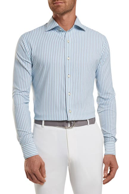 Image of Peter Millar Peterson Stripe Classic Fit Performance Shirt