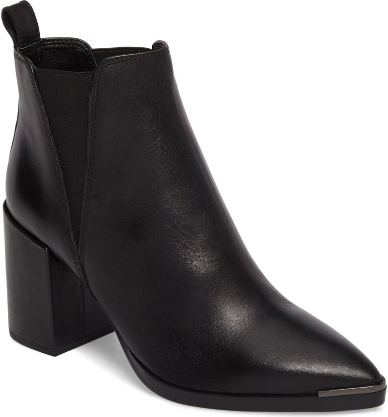 TONY BIANCO Bello Pointy Toe Bootie, Main, color, BLACK JETTA LEATHER