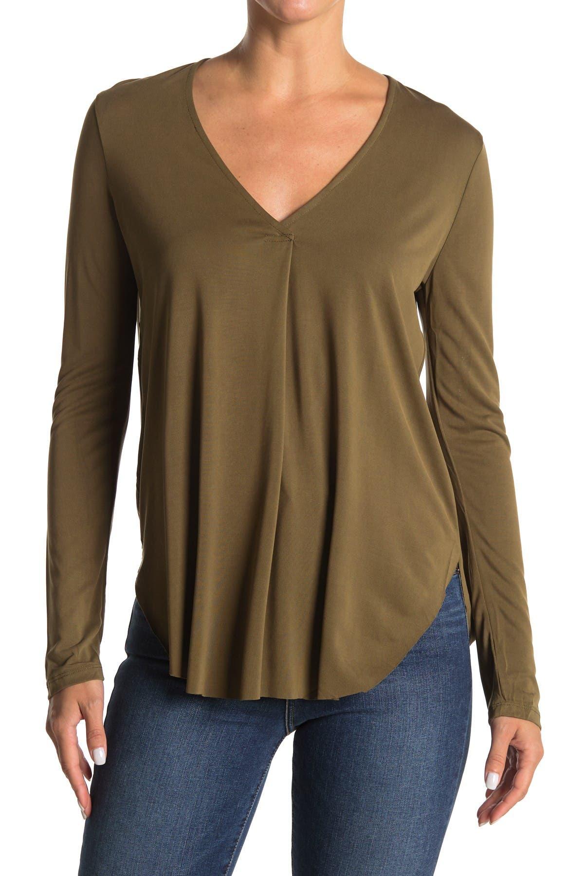 Image of Lush V-Neck Long Sleeve Tunic Top