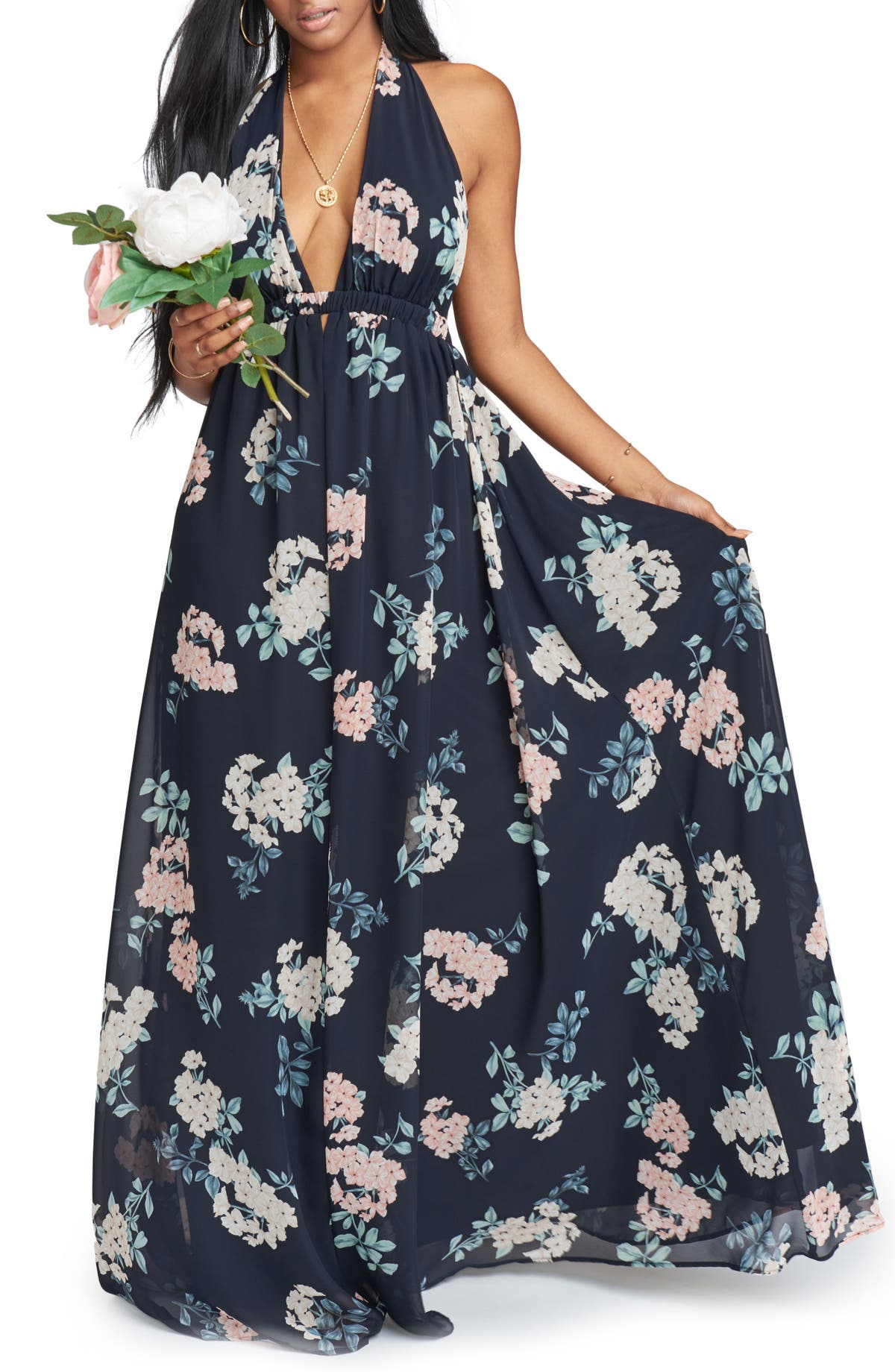 0c7452bbd Show Me Your Mumu Luna Halter Gown | Nordstrom