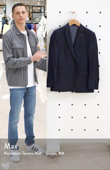 Jay Brown Trim Fit Plaid Sport Coat, sales video thumbnail